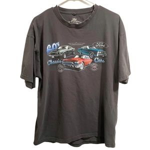 Newport Blue Ford Car Graphic Shirt Gray Size XL
